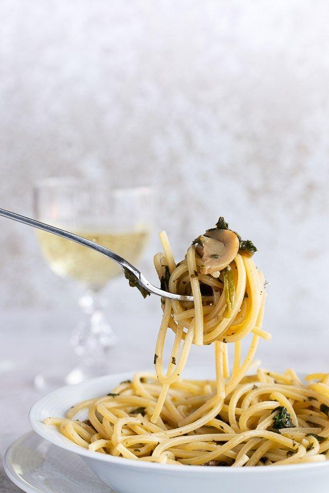 Tagliatelle funghi porcini e spinaci