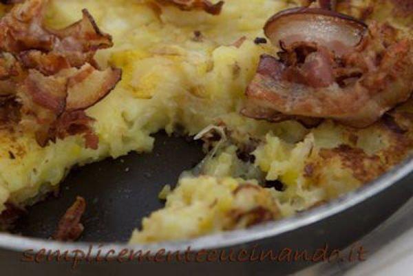patate porro e bacon