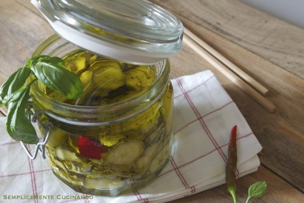 zucchine sott'olio- La Ricetta