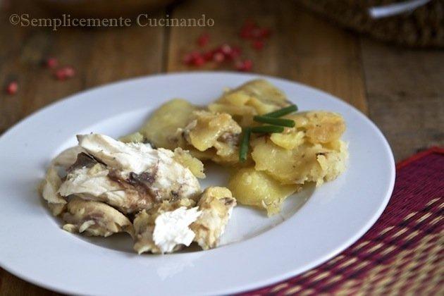 cefalo al forno con patate - La ricetta