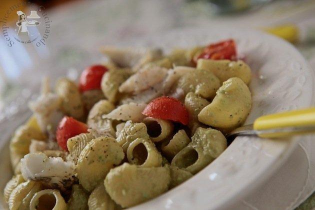crema di fave, anice verde di Castignano e pesce sanpietro