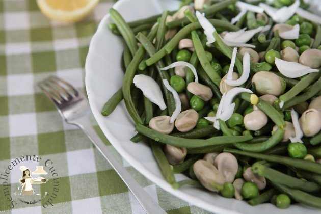 insalata tiepida di primavera