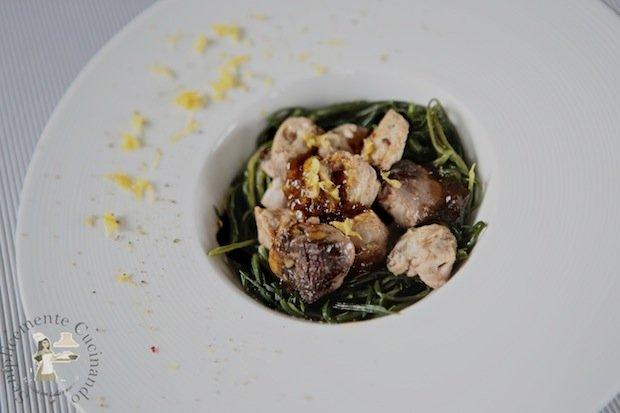 Bocconcini di tonno fresco in salsa agrodolce