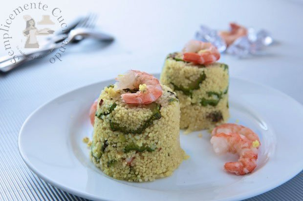 cuscus gamberi zucchine e zenzero- La ricetta di Semplicemente Cucinando