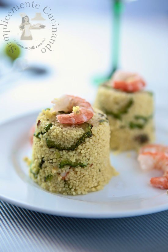 cuscus gamberi zucchine e zenzro - La ricetta di Semplicemente Cucinando