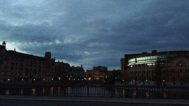 Stoccolma, io ed un solstizio d'estate - tramonto a Stoccolma