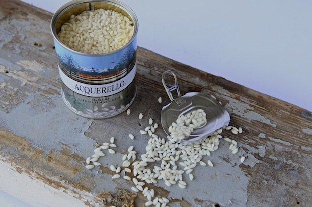 riso acquerello nella ricetta Risotto ai funghi porcini su velo di caprino e granella di noci