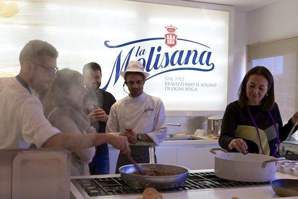 blogger e lo chef al tour La Molisana