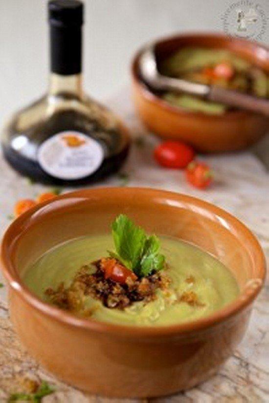 crema broccolo, aceto e aceto balsamico