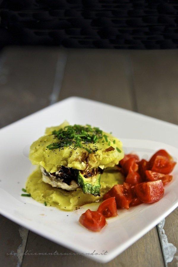 la ricetta della rana pescatrice grigliata con patate e erba cipollina