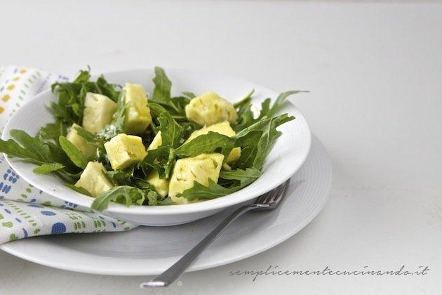 insalata di rughetta e ananas