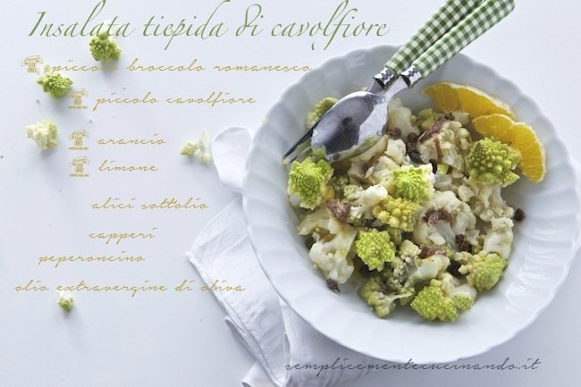 insalata tiepida di cavolfiore