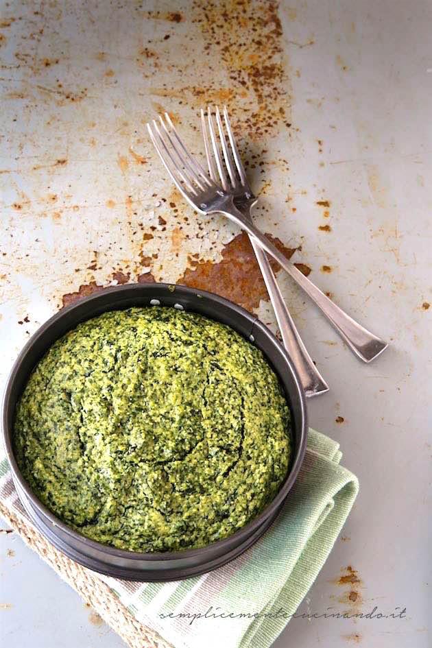 la ricetta de la torta di erbe selvatiche