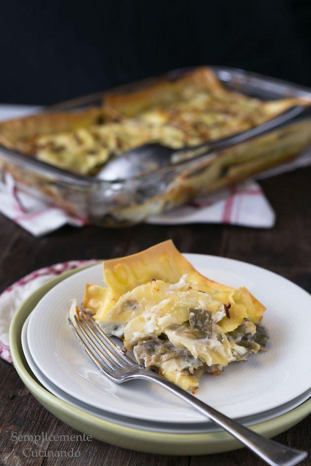 lasagne con carciofi