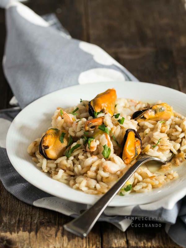 Come fare un ottimo risotto cozze e gamberi