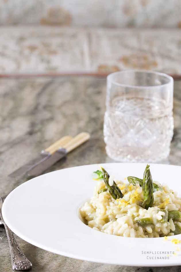 risotto asparagi limone e menta