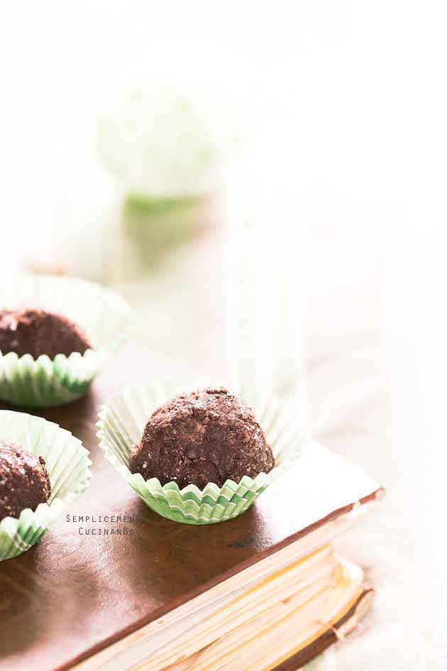 un boccone goloso i tartufi al cioccolato
