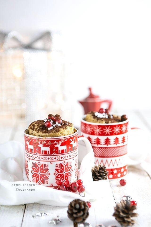 mug cake ai profumi di Natale