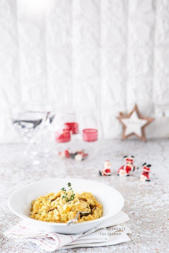 la ricetta del risotto zucca e funghi porcini