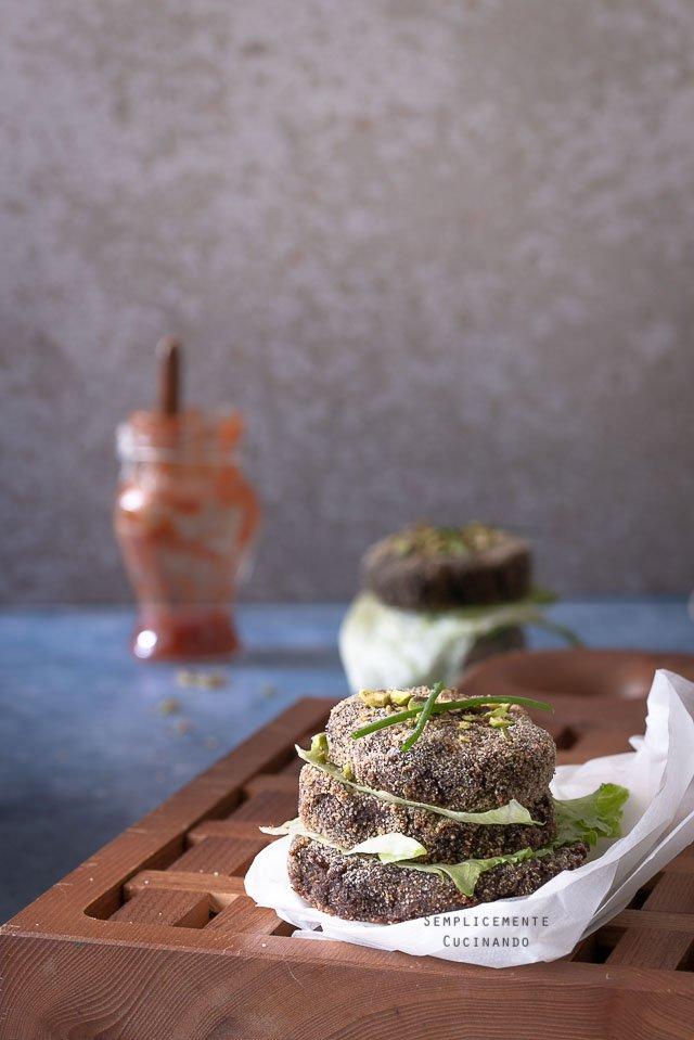 burger di radicchio rosso e zucca
