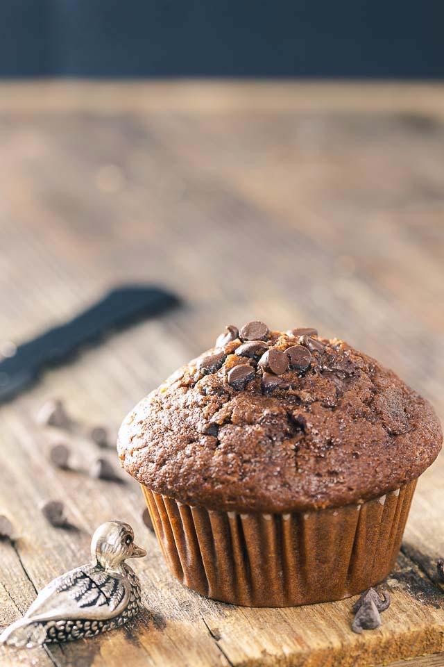 muffins al doppio cioccolato