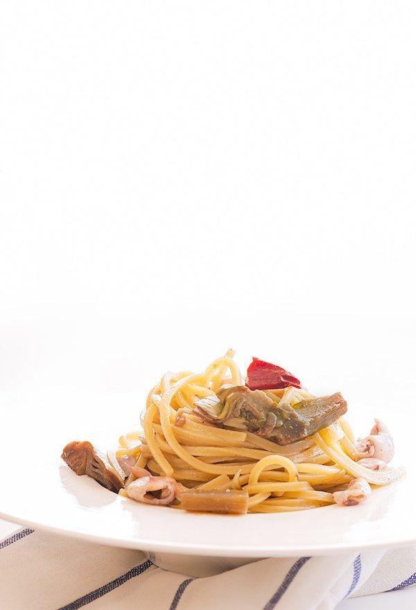traghetto moscardini a carciofi