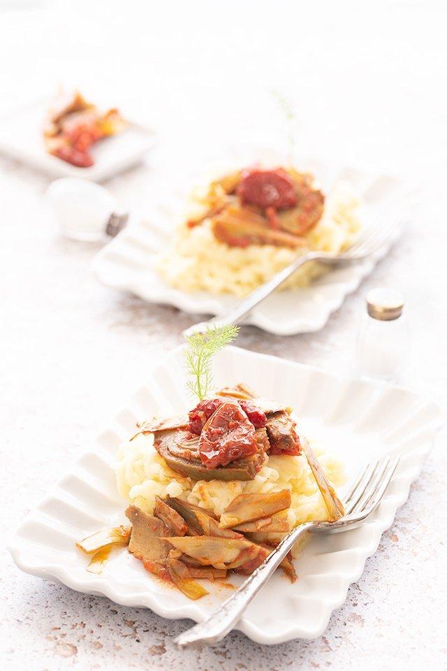 Purè di patate e carciofi