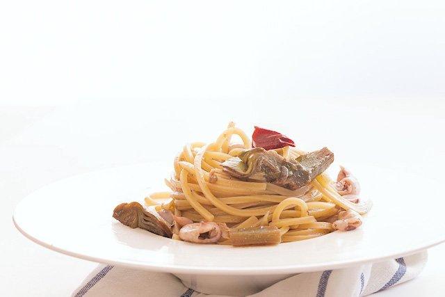 La ricetta de il traghetto moscardini e carciofi