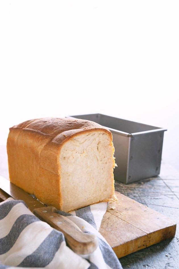 pancarrè o pane in cassetta con pasta madre