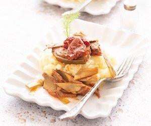 purea di patate con carciofi