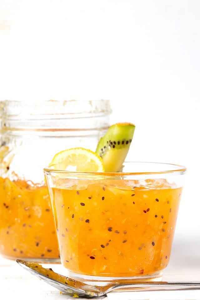 confettura di kiwi al profumo di limone